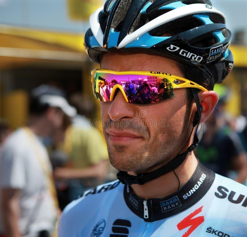 Alberto Contador immagine stock