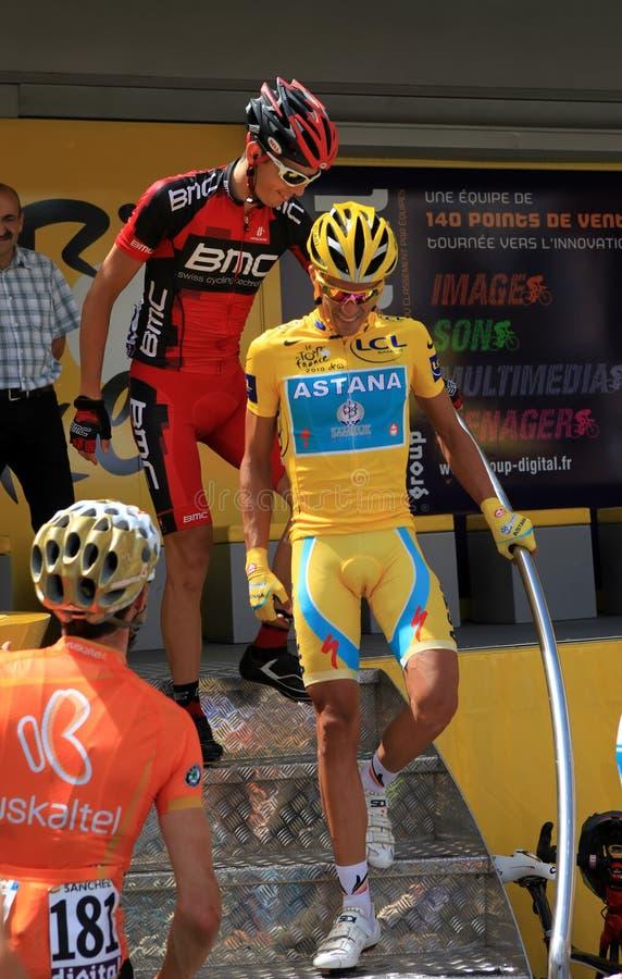 alberto contadorcyklist royaltyfri fotografi