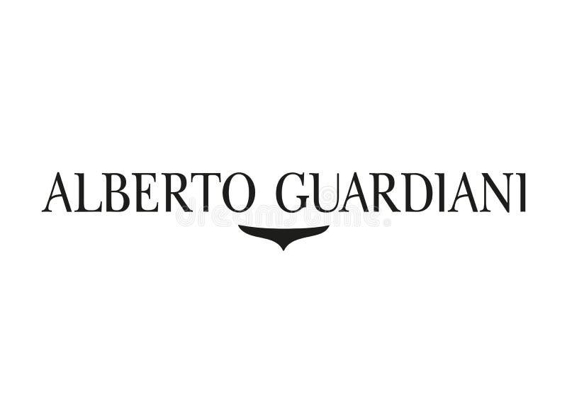 Alberto Guardiani Logo vektor illustrationer
