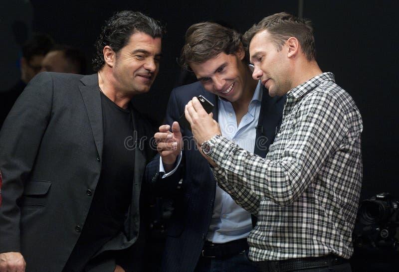Alberto Tomba, Рафаэль Nadal и Andriy Shevchenko стоковые фотографии rf