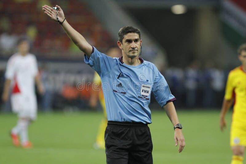 Alberto Undiano Mallenco - futbolowy arbiter zdjęcia stock