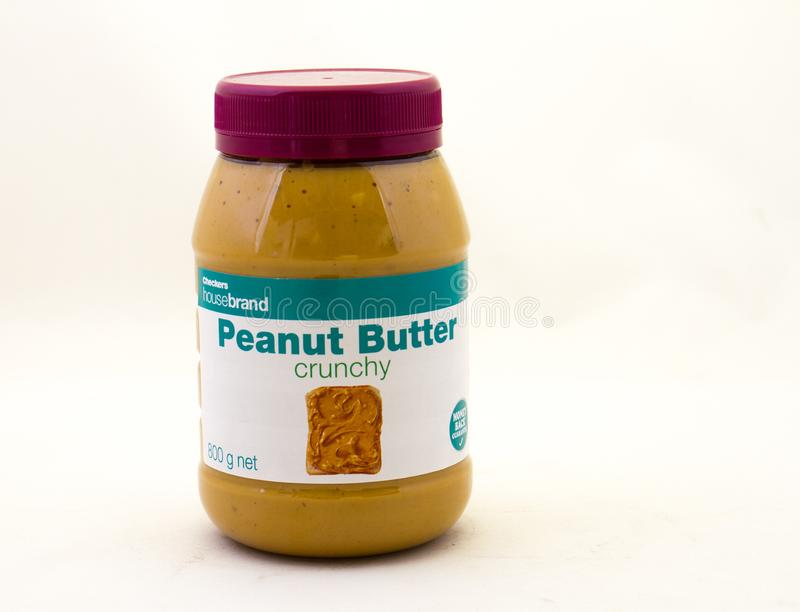 Checkers housebrand peanut butter available in South Africa stock photos
