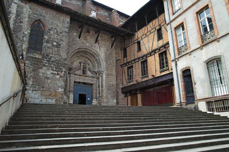 albi cathars pierwszy France oferty schronienie miasteczko był obraz stock