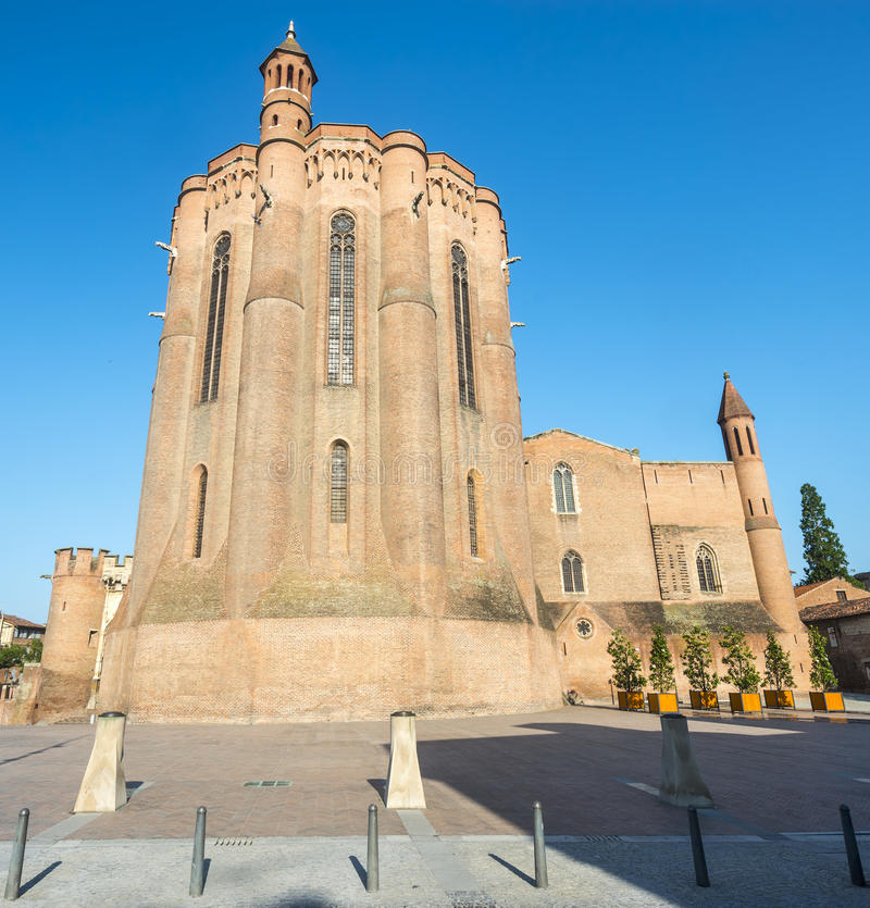 Albi (Francja), katedra zdjęcie stock