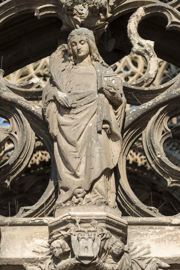 Albi (Francja), katedra fotografia royalty free
