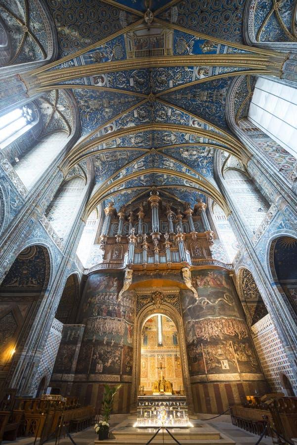 Albi (Francja), katedralny wnętrze zdjęcie stock