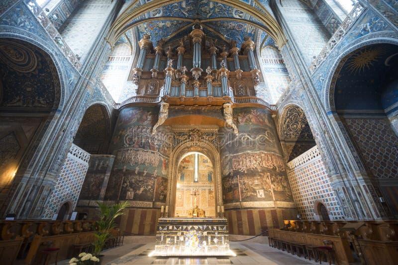Albi (Frankreich), Kathedraleninnenraum lizenzfreie stockbilder