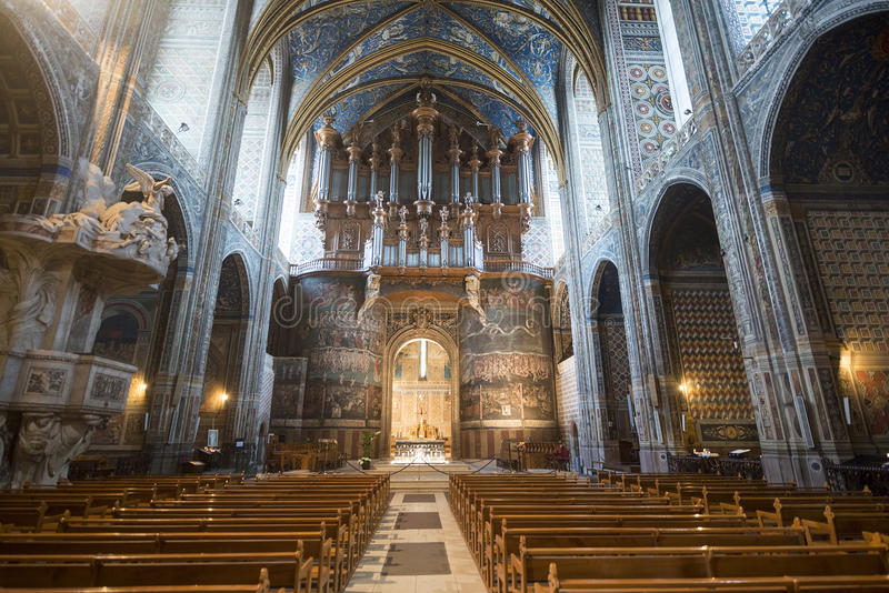 Albi (Frankreich), Kathedraleninnenraum stockbilder