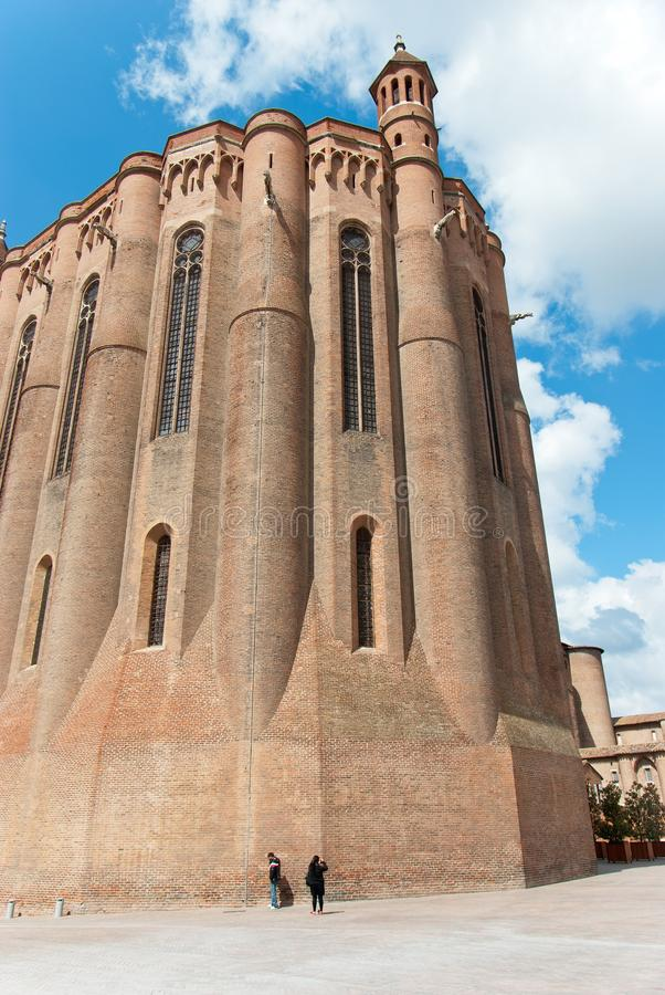Albi katedra obraz royalty free