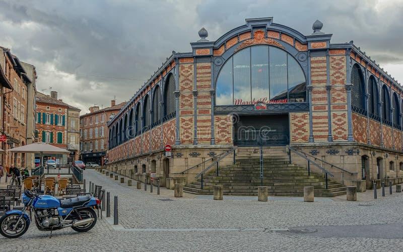 Albi markthal stock foto's