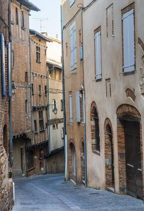 Download Albi, typical old street stock photo. Image of architecture - 34957488