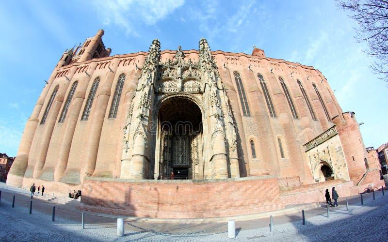 Albi van de Plaats van de Erfenis van Unesco Kathedraal in Frankrijk royalty-vrije stock foto