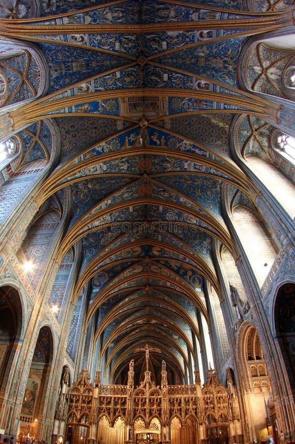 Albi van de Plaats van de Erfenis van Unesco Kathedraal in Frankrijk royalty-vrije stock foto's