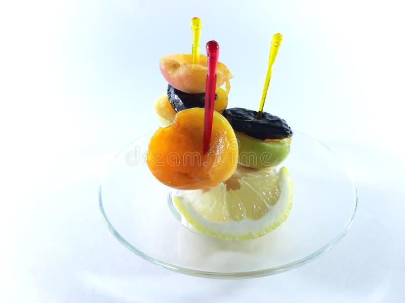 Albicocca dietetica dello spuntino della frutta Menu originale per un buon appetito immagine stock libera da diritti