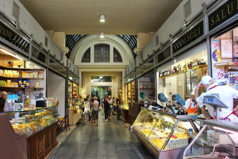 Albinelli历史市场,摩德纳,意大利 库存图片