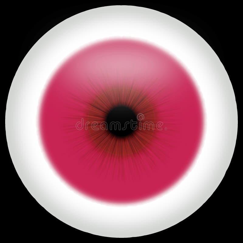albino μάτι απεικόνιση αποθεμάτων