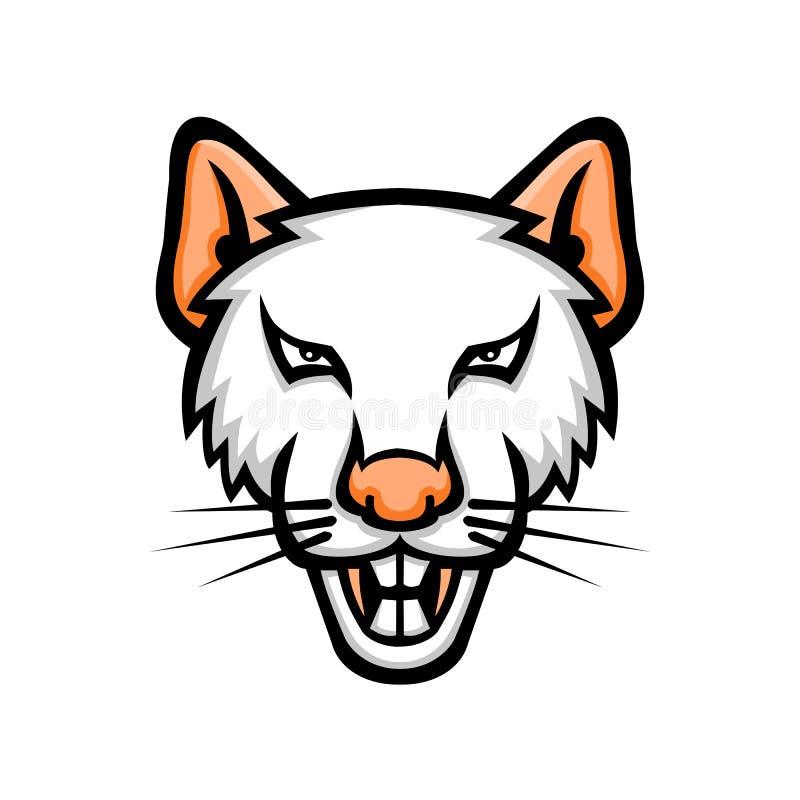 Albino Laboratory Mouse Mascot vector illustratie