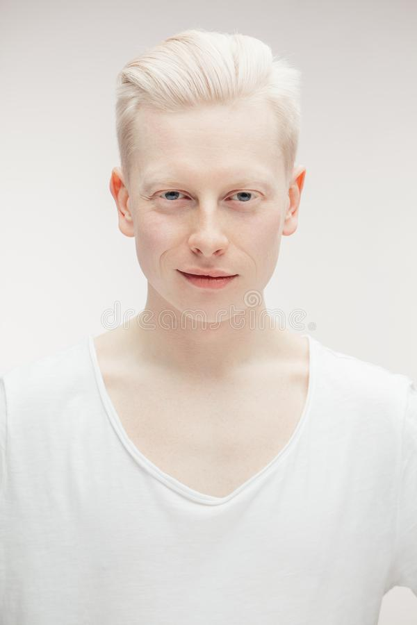 Albino Man Stock Photo Image Of Human Blond Different
