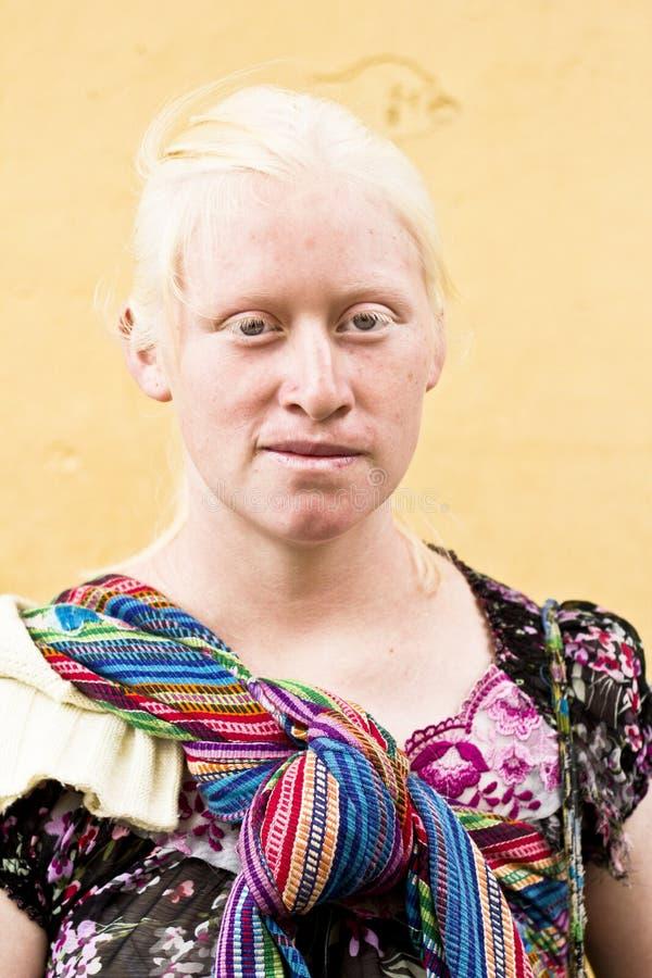 Albino mayan woman royalty free stock photo