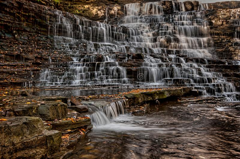 Albion Falls. This beautiful waterfall is in Hamilton Ontario Canada. Nice fall colours and the cascading waterfall made for a peaceful visit royalty free stock photography
