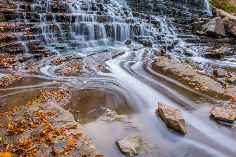 Albion nedgångar, Hamilton, Ontario fotografering för bildbyråer