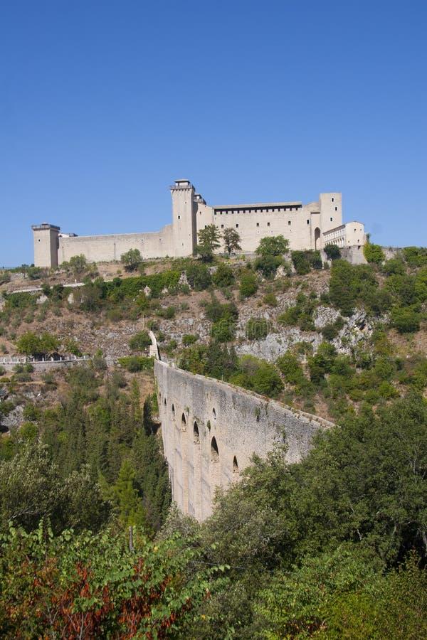 Albornoz fortress royalty free stock photo