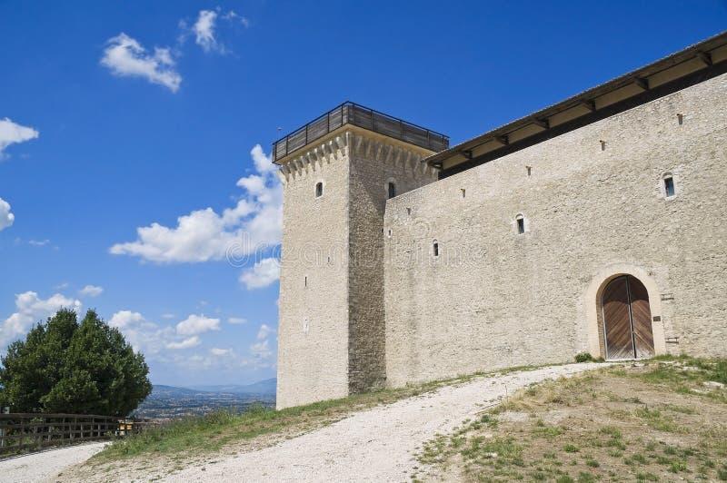 Albornoz fortress. Spoleto. Umbria. royalty free stock photography