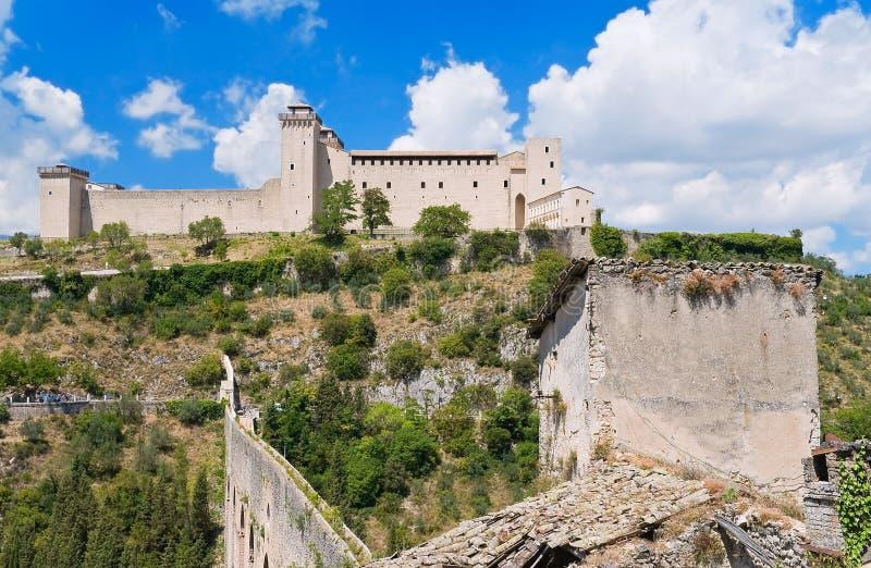 Albornoz fortress. Spoleto. Umbria. stock photography