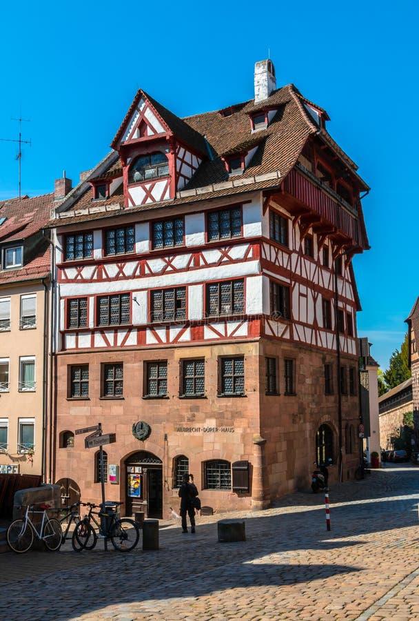 Albrecht Durer House à Nuremberg, Allemagne image libre de droits
