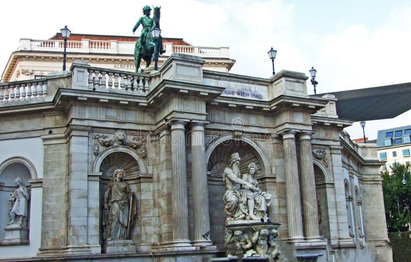 Albrechtsbrunnen, Wien - Vienna, Austria. Albrecht fountain or Albrechtsbrunnen, Wien - Vienna, Austria royalty free stock photos