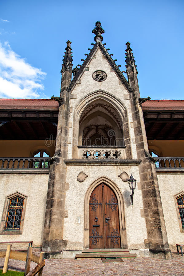 Albrechtsburg é um castelo gótico atrasado, Alemanha imagem de stock royalty free
