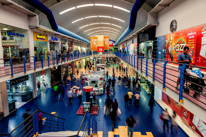 The Albrook Mall in Panama City is the largest shopping center in the city. royalty free stock photos