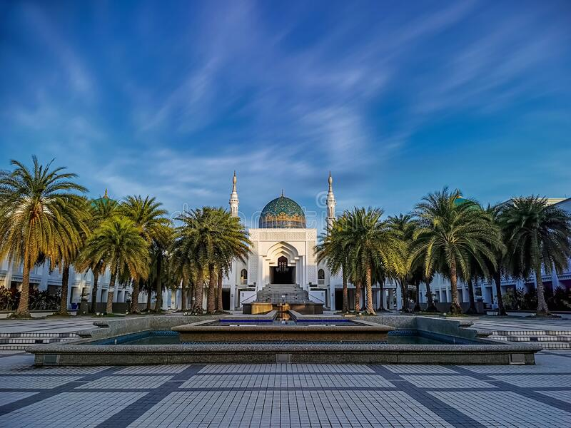 Albukhary Mosque in Alor Setar, Kedah, Malaysia. Albukhary Mosque, is one of the newest and most impressive landmarks in Alor Setar, Kedah, Malaysia. It was royalty free stock images
