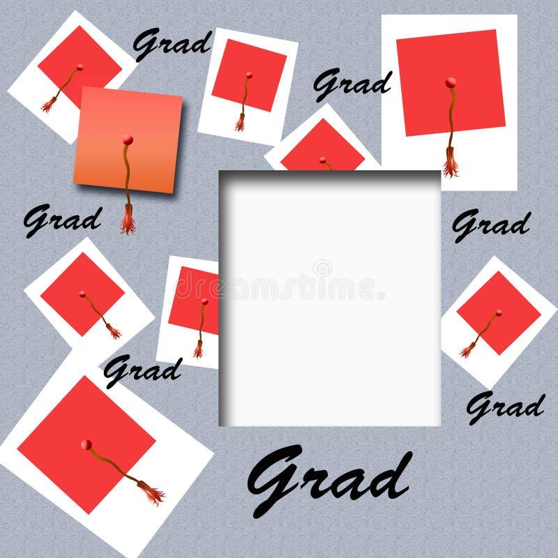 Album à chapeau de graduation illustration stock