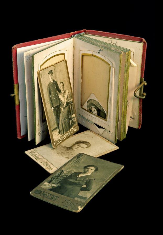 Album antique de famille photo stock
