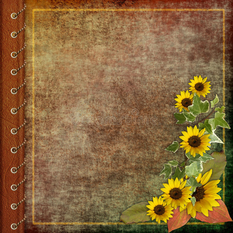 Download Album cover with  flowers stock illustration. Illustration of aged - 11429408