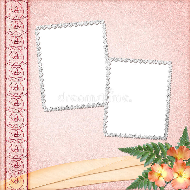 Album cover with frames stock illustration. Illustration of ...