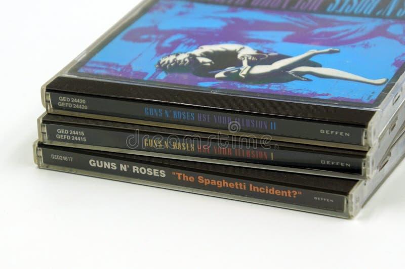 """Album del CD delle rose delle pistole N """" fotografie stock"""