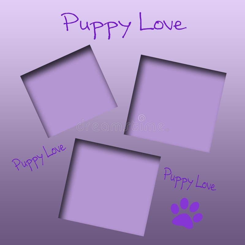 Album di amore del cucciolo illustrazione di stock
