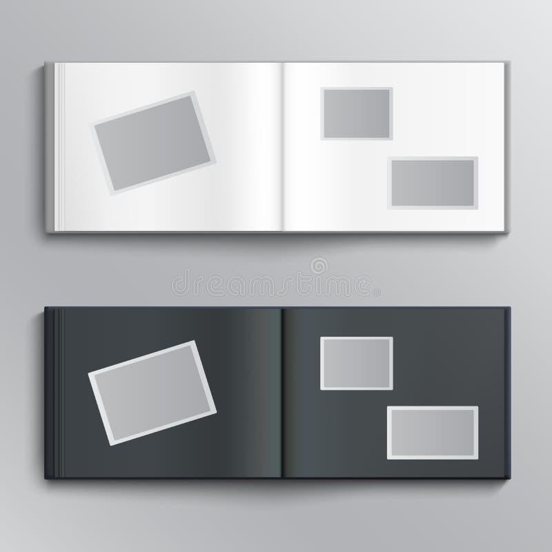 Album di foto in bianco illustrazione di stock