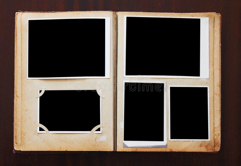 Album di foto dell'annata immagini stock libere da diritti