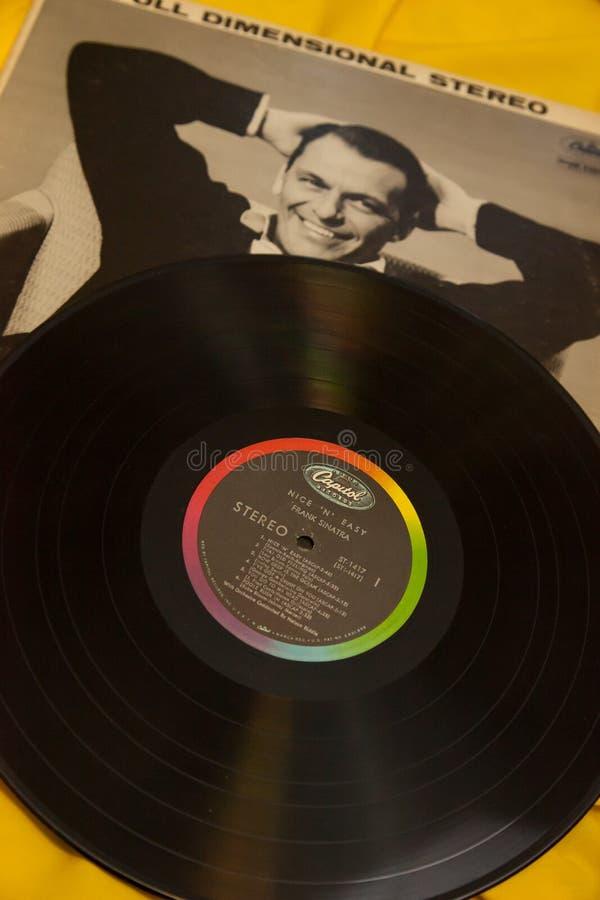 Album di Vintage 33 RPM Frank Sinatra Record immagini stock