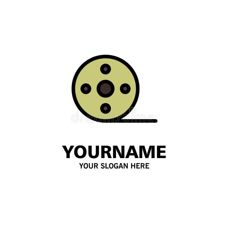 Album, film, film, affaires Logo Template de bobine couleur plate illustration de vecteur