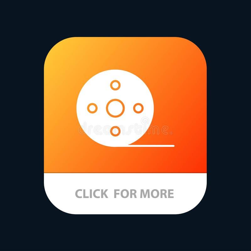 Album, Film, Film, de Knoop van de Spoelmobiele toepassing Android en IOS Glyph Versie vector illustratie
