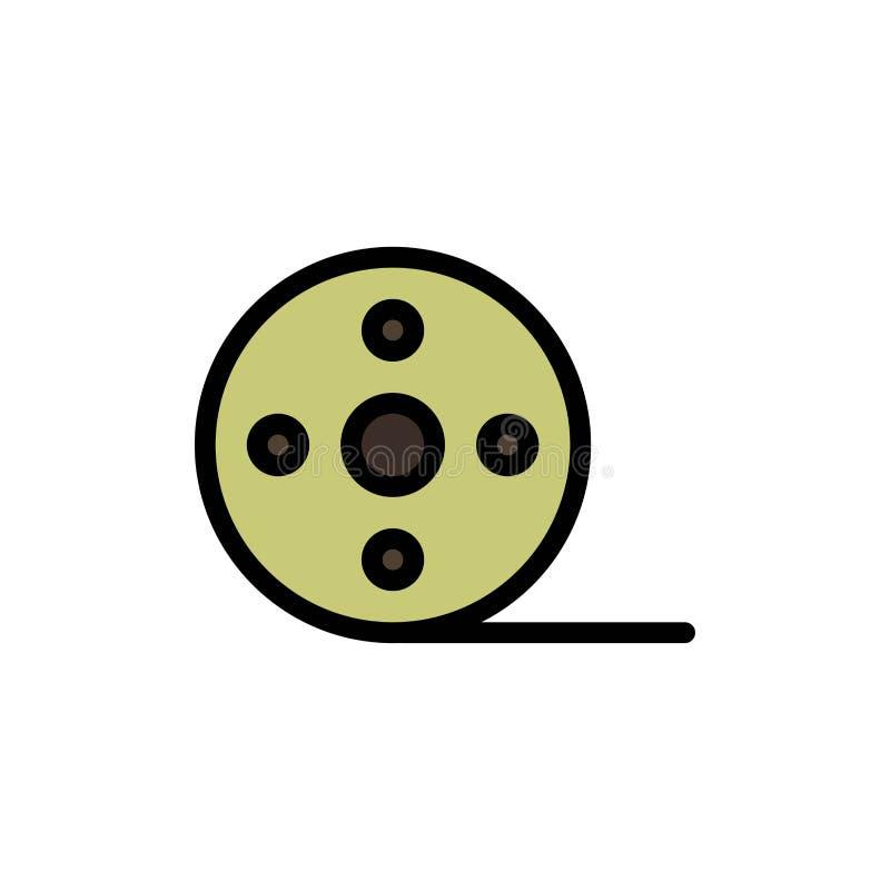 Album, Film, Movie, Reel  Flat Color Icon. Vector icon banner Template vector illustration