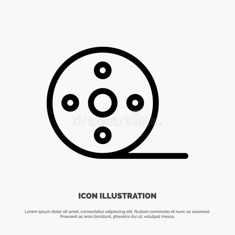 Album, Film, Movie, Reel Line Icon Vector stock illustration