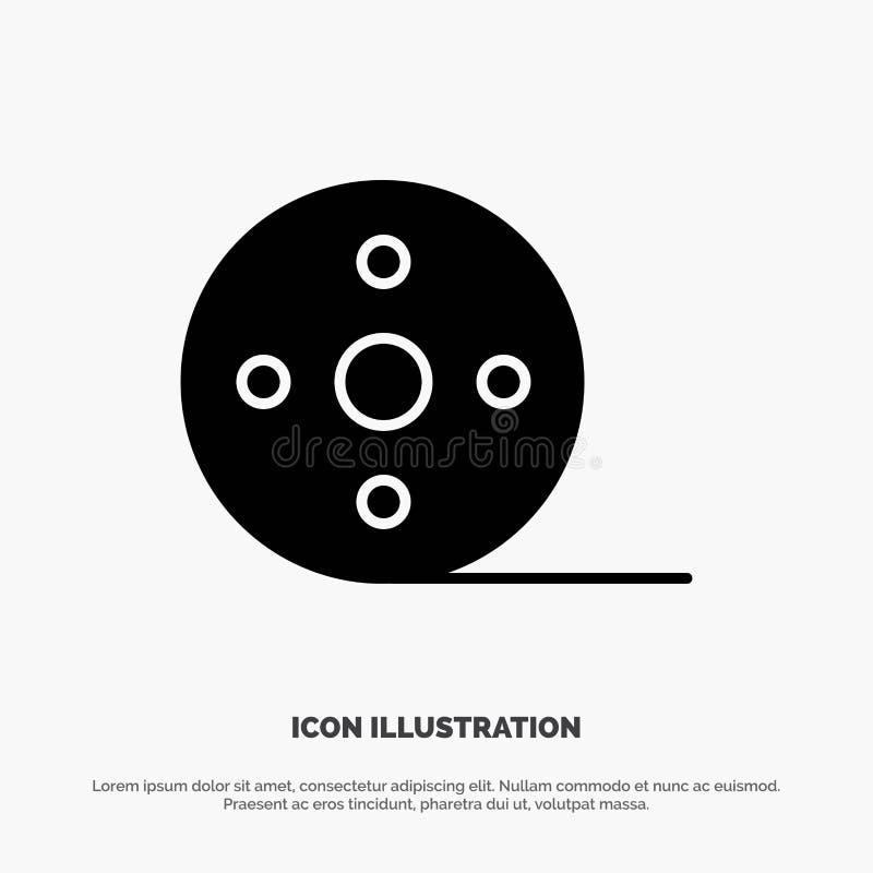 Album, Film, Movie, Reel solid Glyph Icon vector royalty free illustration