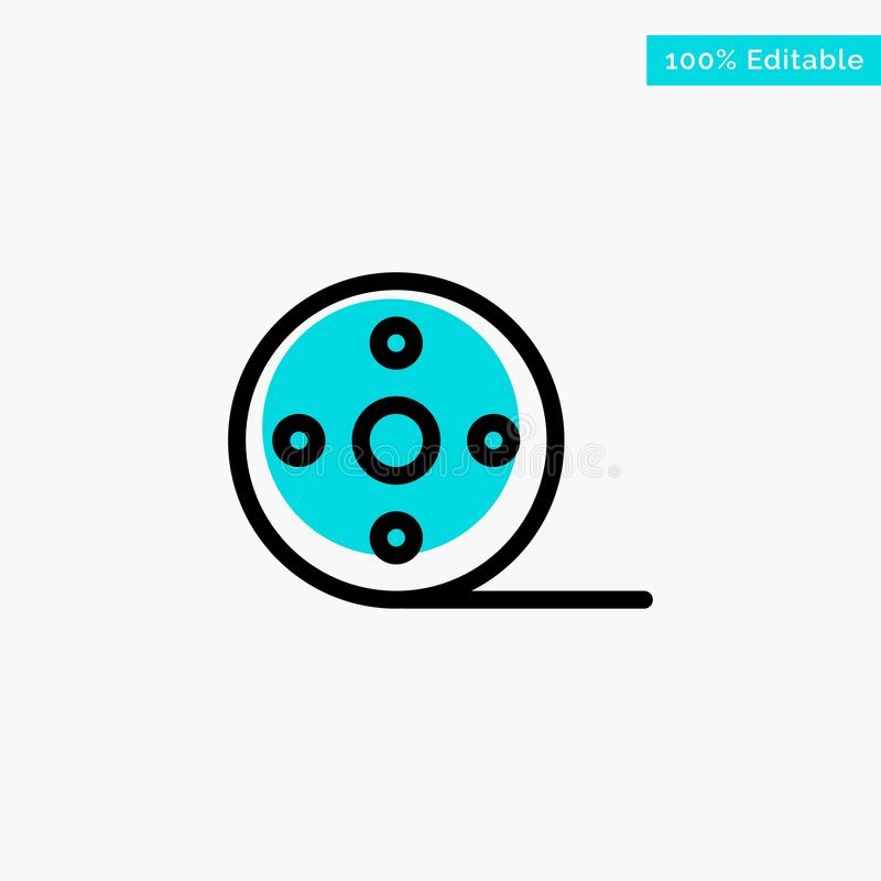 Album, Film, Movie, Reel turquoise highlight circle point Vector icon royalty free illustration