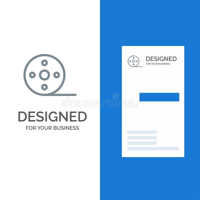 Album, Film, Film, Spoel Grey Logo Design en Visitekaartjemalplaatje vector illustratie