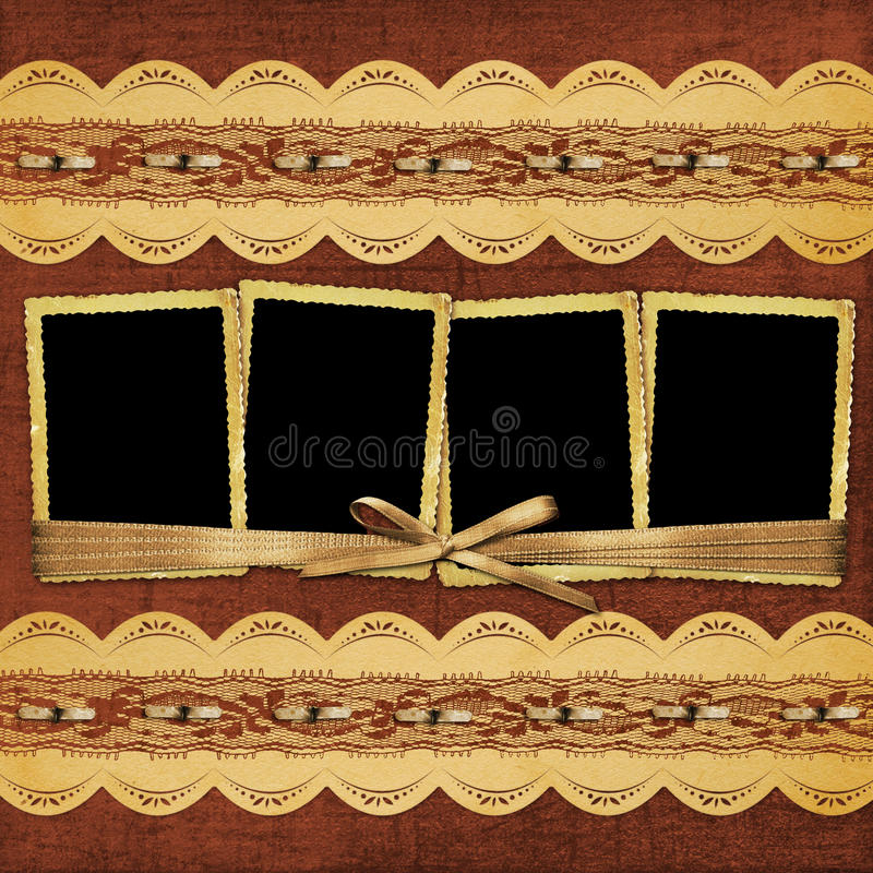 Download Album With Frame And Ornate Lace Stock Illustration - Image: 15521688